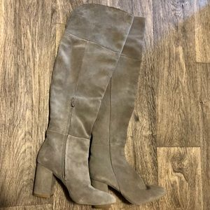 Kenneth Cole Jack over the knee boot in Cement